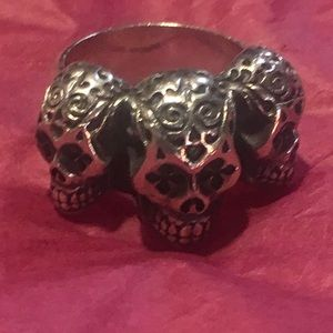 King Baby Day of the Dead Skull Ring
